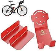 Gootus Bike Wall Mount - Horizontal Indoor Storage Bike Rack for Garage or Home, Heavy Duty Bicycle Hold hooks