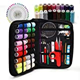 Sewing KIT, XL Sewing Supplies for DIY, Beginners, Emergency, Kids, Summer Campers, Travel and Home,Sewing kit with Scissors, Thimble, Thread, Needles, Tape Measure, Carrying Case and Accessories
