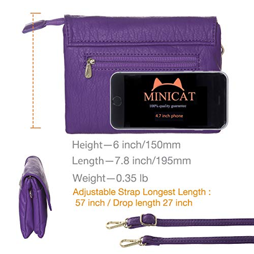 MINICAT RFID Blocking Small Crossbody Bags for Women Travel Small Purses and Handbags Crossbody with Card Slots