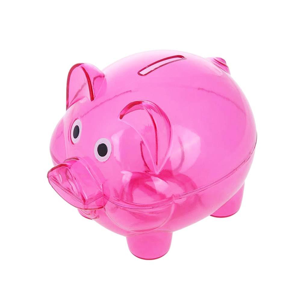 Weihuimei Coins Saving Box, Cute Piggy Coins Cents Cash Saving Box Plastic Pig Money Box Kids Fun Gift