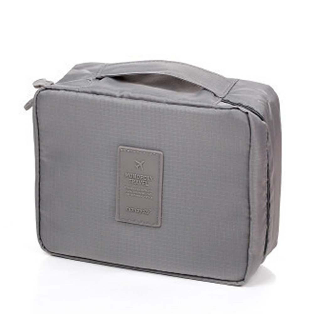 Msyou trousse trucco organizer da viaggio borse cosmetici trucco kit multifunzionale Portable Storage Bag per donne ragazze (blu scuro)