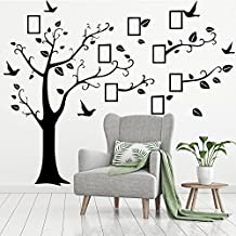 Wall Decals Art Stickers Waterproof, Huge Size Family Photo Frame, Tree and Birds Pattern, for Home Kitchen Bedroom Living Room Decor - [ DAGO-Mart Quality Guarantee ]