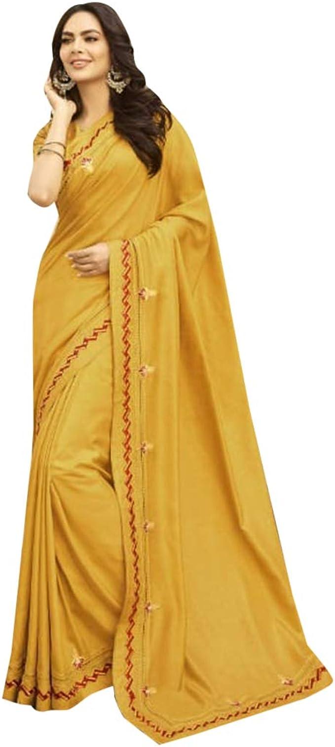 Yellow Original Linen saree and blouse for women,wedding saree,indian saree,saree dress,saree for women,designer saree,dress for women,sari