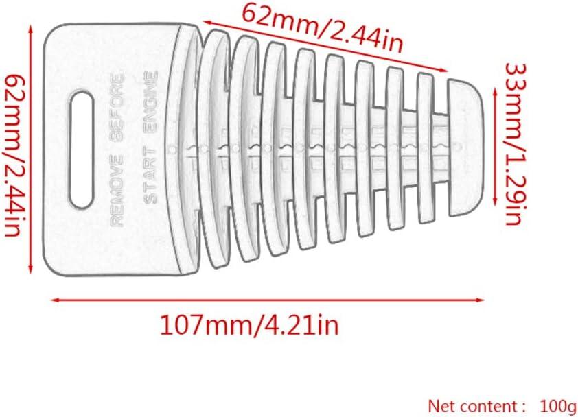grand Starnearby Bouchon en caoutchouc de tuyau d/échappement de moto tout-terrain grand bouchon de silencieux de tuyau d/échappement de moto tout-terrain bouchon /étanche