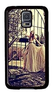 Samsung Galaxy S5 Case Cover - Vintage Girl Custom Designer PC Hard Case for Samsung Galaxy S5 - Black