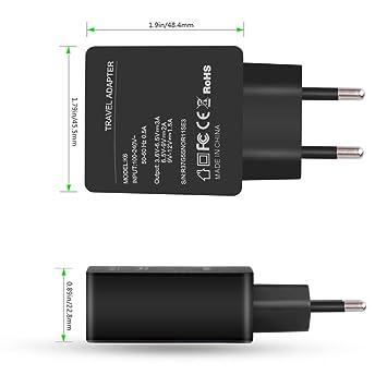 tefamore Quick Charge 3.0 Cargador con USB de c de tipo C de ...