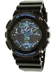 Casio G-Shock Graphic Dial Resin Quartz Mens Watch GA100CB-1A