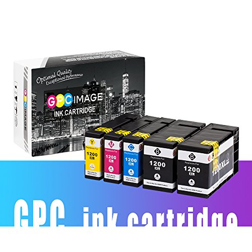 GPC Image 1200XL 5 Pack Compatible Ink Cartridge Replacement for Canon PGI-1200XL PGI-1200 XL for Canon MAXIFY MB2720 MB2320 MB2020 MB2050 MB2350 Printer (2 Black, 1 Cyan, 1 Magenta, 1 Yellow) Photo #7