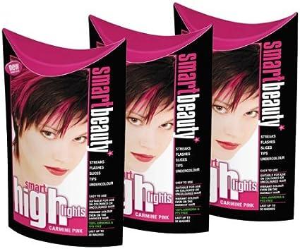 Smart Reflejos Carmín Pelo Rosa Color X 3