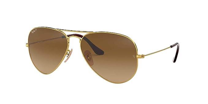 7fd3452e48 Amazon.com  Ray-Ban Original Aviator Sunglasses (RB3025) Gold Brown ...