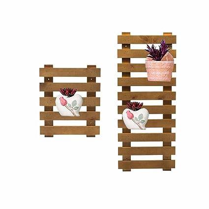 Amazon.com: Soporte de madera para colgar en la pared, para ...