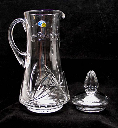 Russian Cut Crystal Carafe Decanter Pitcher 50 oz (Pitcher With Water Crystal Lid)