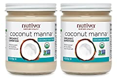 Nutiva Organic Coconut Manna from Fresh, non-GMO, Sustainably Farmed Coconuts is an incredibly tasty, whole food treat made of pure coconut flesh. You can enjoy this coconut butter straight from the jar, or warm it up to spread the goodness! ...