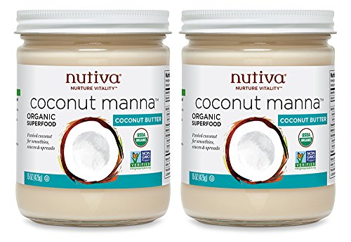 Coconut Spread - Nutiva Organic Coconut Manna from Fresh, non-GMO, Sustainably Farmed Coconuts, 15-Ounce (Pack of 2)
