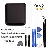 Ogodeal Apple Watch 38mm New Screen Replacement Repair Kit Series 1 A1802 and (1st Generation) A1553 Sport Version Original LCD and Digitizer Touch Glass Screen Assembly with Repair Tool Set 38 MM