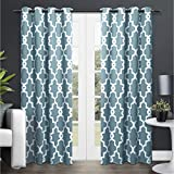 Exclusive Home Ironwork Blackout Thermal Grommet Top Window Curtain Panels, 52-Inch by 84-Inch