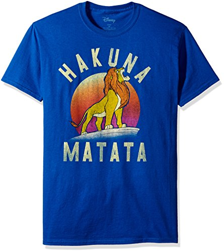 Disney Men's Lion King Simba Warrior Roar Graphic Tee, Royal, ()