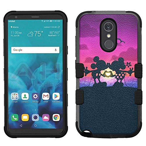 (LG Stylo 4 Case, LG Q Stylus Case, LG Stylus 4 Case, Hard+Rubber Dual Layer Hybrid Heavy-Duty Rugged Armor Cover Case - Mickey Minnie Mouse #Mr&Mrs.)