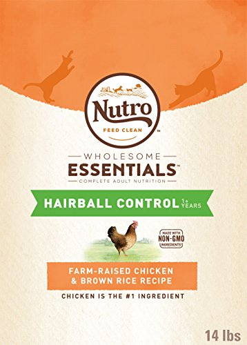 Nutro Hairball Control Adult Dry Cat Food Chicken 14 Lb. Bag