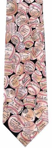 Museum Artifacts Baseball Signature Silk Necktie Artifacts Baseball