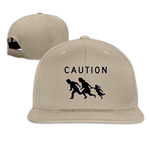 John Deere Adjustable Collar (MaNeg Caution Sign Unisex Fashion Cool Adjustable Snapback Baseball Cap Hat One)