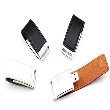 KTHLLDD Llavero de Cuero y Metal Llavero USB Pendrive Moda ...
