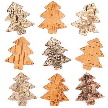 Baker Ross Árboles de Navidad de Corteza de árbol para Decoraciones ...