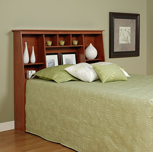Cherry Full/Queen Tall Slant-Back Bookcase Headboard (Tall Headboard Queen)