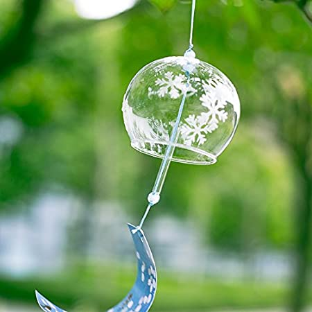 Japanese Wind Bell Wind Chimes Handmade Glass 9 Patterns