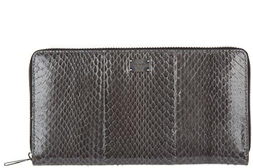 Dolce&Gabbana women's wallet leather coin case holder purse card bifold grey by Dolce & Gabbana