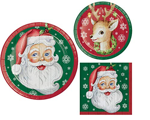 Paper Plate Santa - Santa Party Supplies: Christmas Bundle Includes