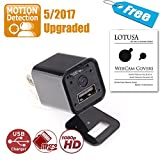 Spy Camera | 2017 S-Ext Edition | Motion Detection upgraded | LOTUSA 1080P HD USB Wall Charger Hidden Spy Camera/ Nanny Spy Camera Adapter | External Memory |