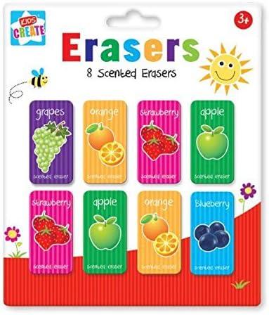 Pack de 8 gomas de borrar (aroma de frutas oficina escuela hogar ...