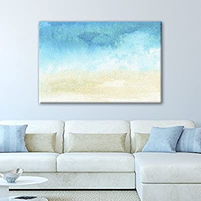 Watercolor Painting Style Abstract Seascape, With Expert Quality, Handsome Expert Craftsmanship