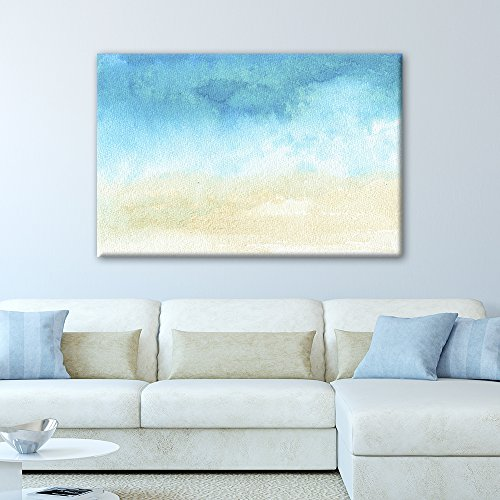 Watercolor Painting Style Abstract Seascape