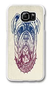 Grit Bulldog Polycarbonate Hard Case Cover for Samsung S6/Samsung Galaxy S6 Transparent