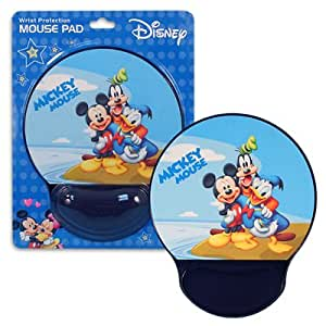 Disney Computer Mousepad - Mickey & Friends Mouse Pad with Wrist Rest