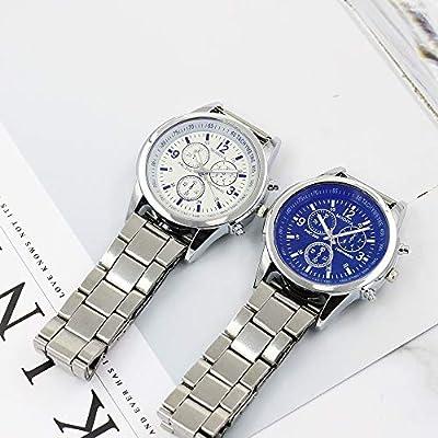 QUNANEN Mens Wristwatch Luxury Watches Quartz Watch Stainless Steel Dial Casual Bracelet Watch (# Wristwatch AA): Toys & Games