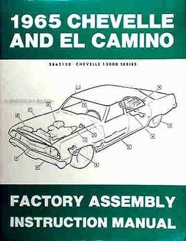 1965 chevelle & el camino factory reprint assembly manual chevrolet  1965 el camino door diagram wiring schematic #6