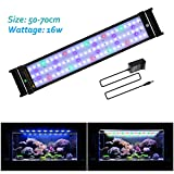 JOYHILL LED Full Spectrum Aquarium Lights,Fish Tank Light with Extendable Brackets,Suitable for Aquatic
