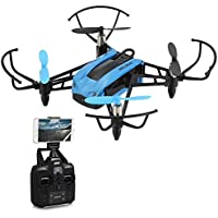 FPV Drone with 720P HD WiFi Camera, Mini Racing Drone 2.4GHz RC Quadcopter with Height Hold, 30mph High Speed Mode, Headless Mode with 6-Axis Gyro by FidgetKit