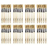 Tools & Hardware : Artlicious 40 Pack of 1/2 inch Pure Hog Bristle Chip Paint Brushes