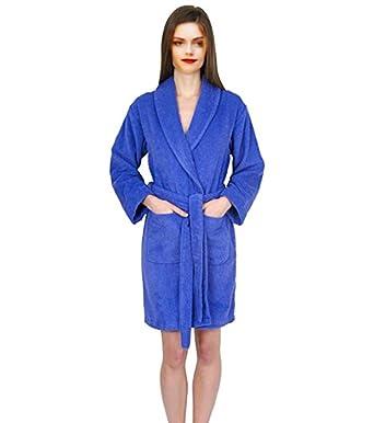 5aef6036833 ELEGANI Women s Short Turkish-Cotton Terry-Bathrobe at Amazon Women s  Clothing store