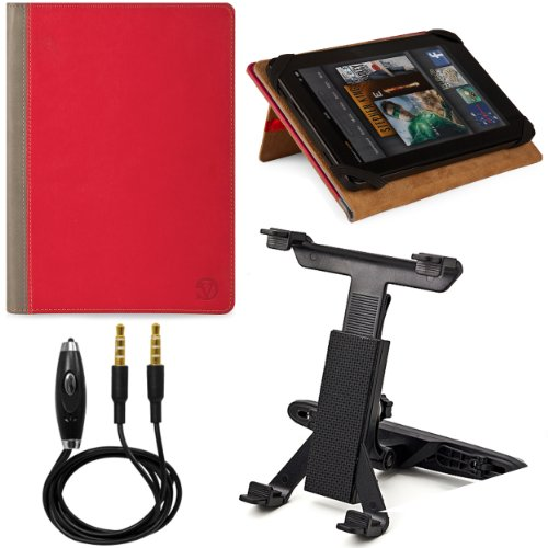 Touch Silicone 3g (Folio Stand Alone Protective Carrying Case for Archos 70c ereader/Arnova G1 7 / Arnova 7e G2 Dual Touch/Arnova 7c G3 7 inch Tablets + Headrest Tablet Mount Holder + Stereo Auxiliary Audio Cable)