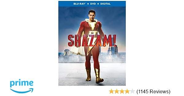 Amazon com: Shazam! (Blu-ray + DVD + Digital Combo Pack) (BD