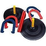 SPORT BEATS Rubber Horseshoe Set - Indoor Outdoor Games Safe for Children
