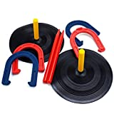 SPORT BEATS Rubber Horseshoe Set - Indoor Outdoor Games Safe for Children
