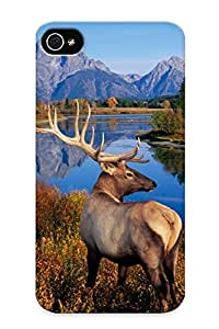 Awesome Case Cover/iphone 4/4s Defender Case Cover(elk ) Gift For Christmas