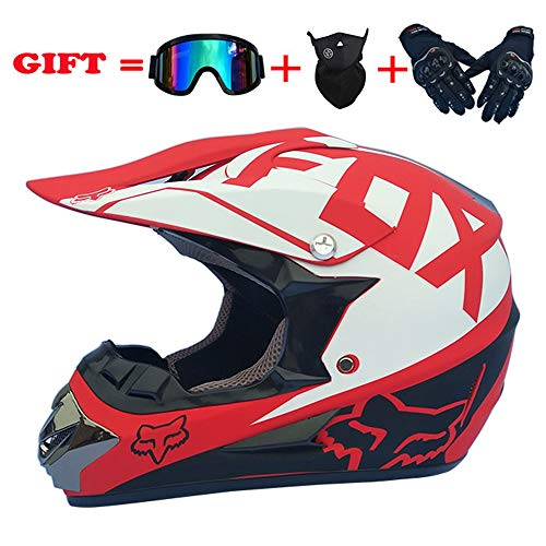 (Motocross Helmet 30Colors Adult Full Face ATV/MX/Off-road Motorcycle 4pc set DOT)