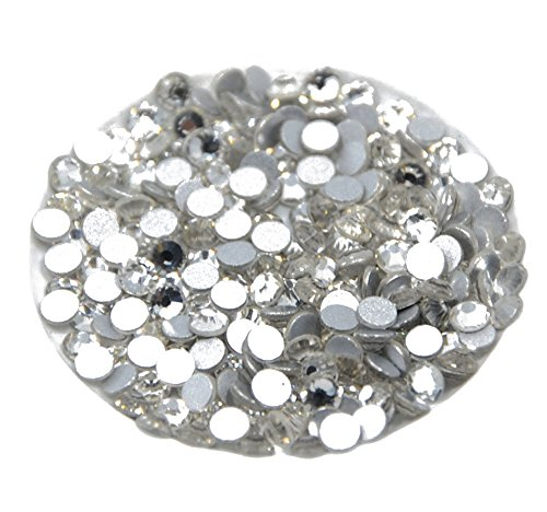 Beadsland 1440 Piece Flat Back Crystal Rhinestones Round Gems,2mm-6ss, Crystal Clear ()